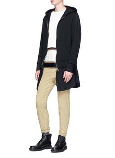 Johnundercover Shirt underlay zip hoodie