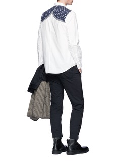 Johnundercover Knit print poplin shirt