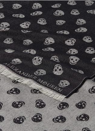Detail View - Click To Enlarge - Alexander McQueen - Skull intarsia wool-silk shawl