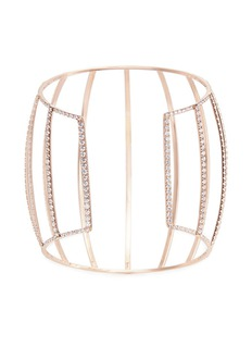 Dauphin White diamond 18k rose gold caged cuff