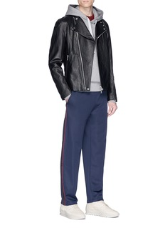 Acne Studios 'Norwich' face patch stripe outseam track pants