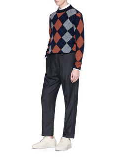 Acne Studios Newton' argyle intarsia wool sweater