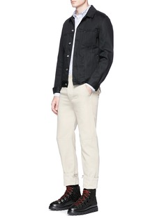 Acne Studios 'Ohio' face patch stripe Oxford shirt