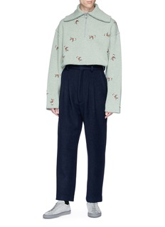 Acne Studios 'Ariia Boucle' wool melton pants