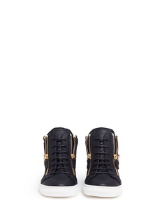 Giuseppe Zanotti Design 'Cruel Junior' double zip leather kids sneakers