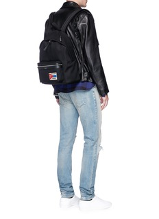 Saint Laurent 'City' Universite patch twill backpack