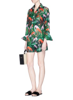 F.R.S For Restless Sleepers Flamingo print silk pyjama shorts