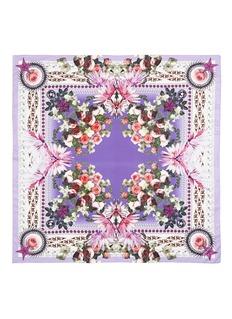 GIVENCHYParadise flower print cotton-silk scarf