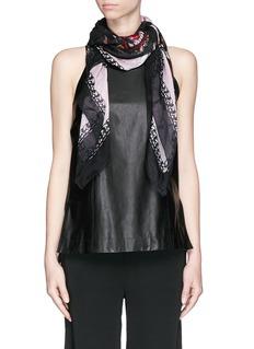 GIVENCHYRottweiler print cotton-silk scarf