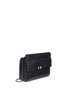 Valentino 'Rockstud Spike' large quilted leather crossbody bag