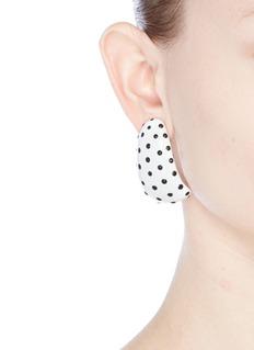 Kenneth Jay LanePolka dot enamel clip earring