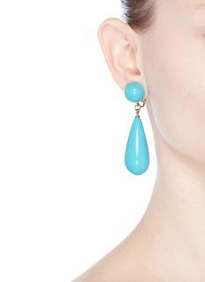 Kenneth Jay LaneChunky teardrop clip earrings