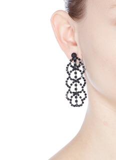 Kenneth Jay LaneGlass crystal lace drop clip earrings