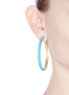 Kenneth Jay LaneEnamel hoop earrings