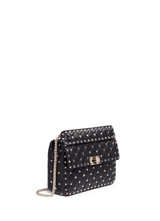Valentino 'Rockstud Spike' medium quilted leather crossbody bag