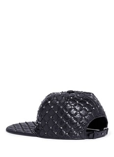Valentino 'Rockstud Spike' lambskin leather baseball cap