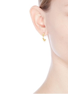 Belinda Chang 'First Frost' pearl 18k gold plated small hoop earrings