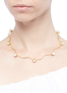 Belinda Chang 'Fruity' freshwater pearl segmented wire necklace