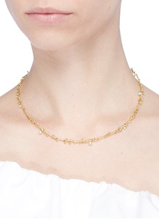 Obellery'Fruity' freshwater pearl segmented chain necklace