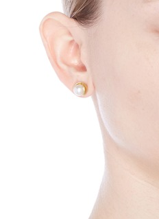Belinda Chang 'Fruity' 18k gold plated pearl stud earrings