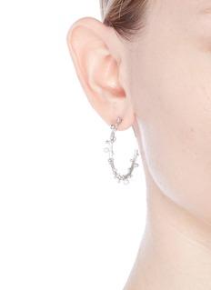Belinda Chang'First Frost' freshwater pearl large hoop earrings