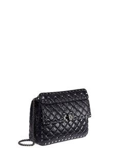 Valentino'Rockstud Spike' medium leather shoulder bag
