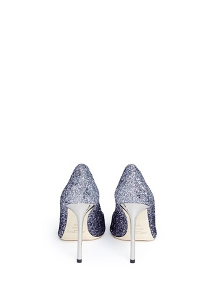 Back View - Click To Enlarge - Jimmy Choo - 'Romy 100' dégradé coarse glitter pumps