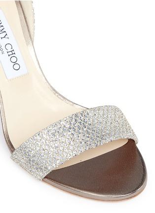Detail View - Click To Enlarge - Jimmy Choo - 'Edina 85' sculpted heel glitter sandals
