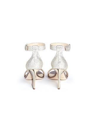 Back View - Click To Enlarge - Jimmy Choo - 'Edina 85' sculpted heel glitter sandals
