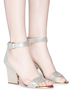 Jimmy Choo 'Edina 85' sculpted heel glitter sandals