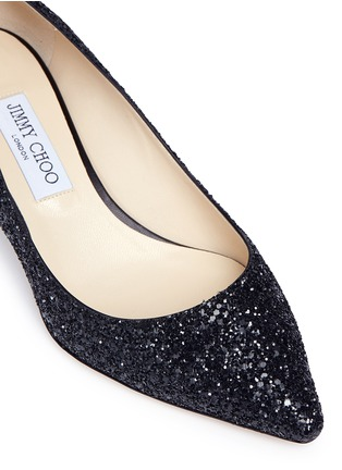 Detail View - Click To Enlarge - Jimmy Choo - 'Romy 40' coarse glitter pumps