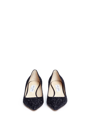 Front View - Click To Enlarge - Jimmy Choo - 'Romy 40' coarse glitter pumps