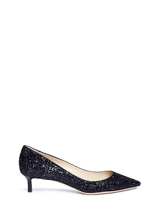 Main View - Click To Enlarge - Jimmy Choo - 'Romy 40' coarse glitter pumps