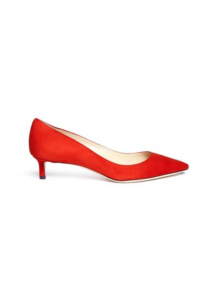Main View - Click To Enlarge - Jimmy Choo - 'Romy 40' suede pumps
