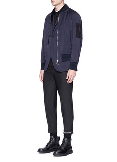 Neil Barrett Zip cuff cropped pants