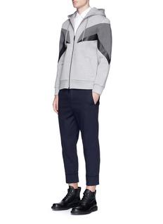 Neil Barrett 'Modernist 7' panel neoprene zip hoodie