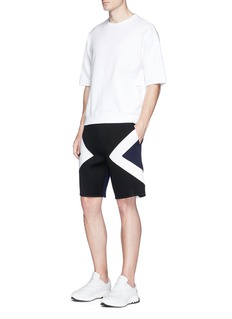 Neil Barrett 'Modernist' panel neoprene sweat shorts
