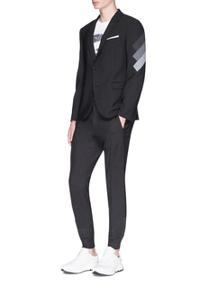 Neil Barrett Three stripe panel slim fit blazer