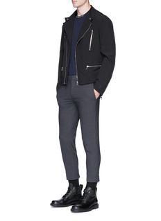 Neil Barrett Stretch padded biker jacket
