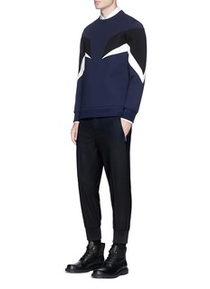 Neil Barrett 'Modernist 7' panel neoprene zip sweatshirt
