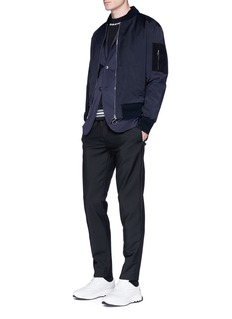 Neil Barrett 2-in-1 stretch gilet and bomber jacket set