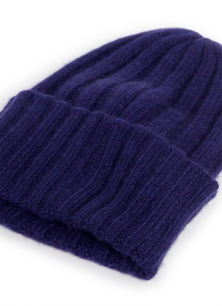 Detail View - Click To Enlarge - THE ELDER STATESMAN - 'Short Bunny Echo' cashmere knit beanie