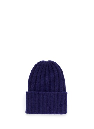 Main View - Click To Enlarge - THE ELDER STATESMAN - 'Short Bunny Echo' cashmere knit beanie
