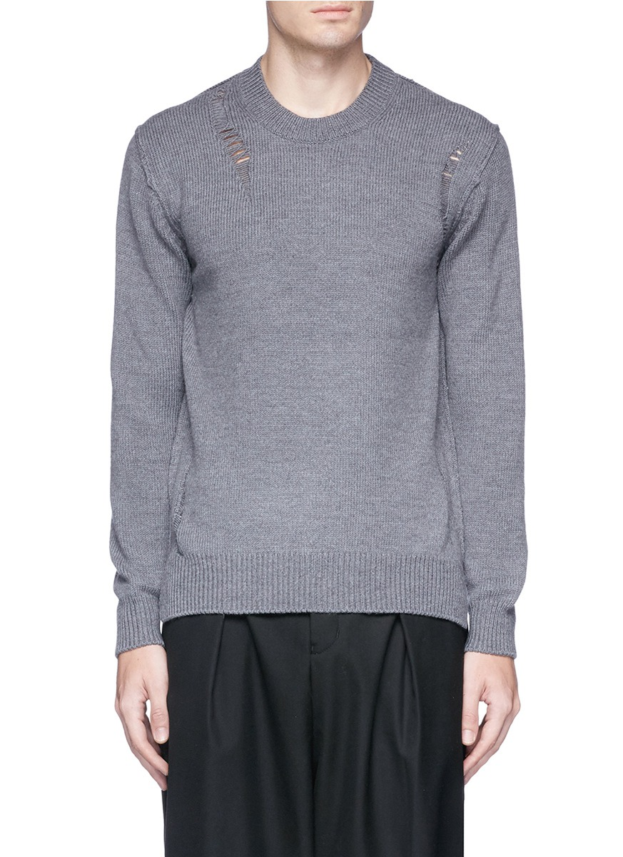 ATTACHMENT Distressed wool sweater
