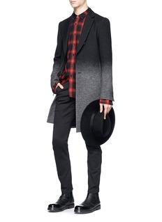 ATTACHMENT Gradient wool-hemp-cashmere coat