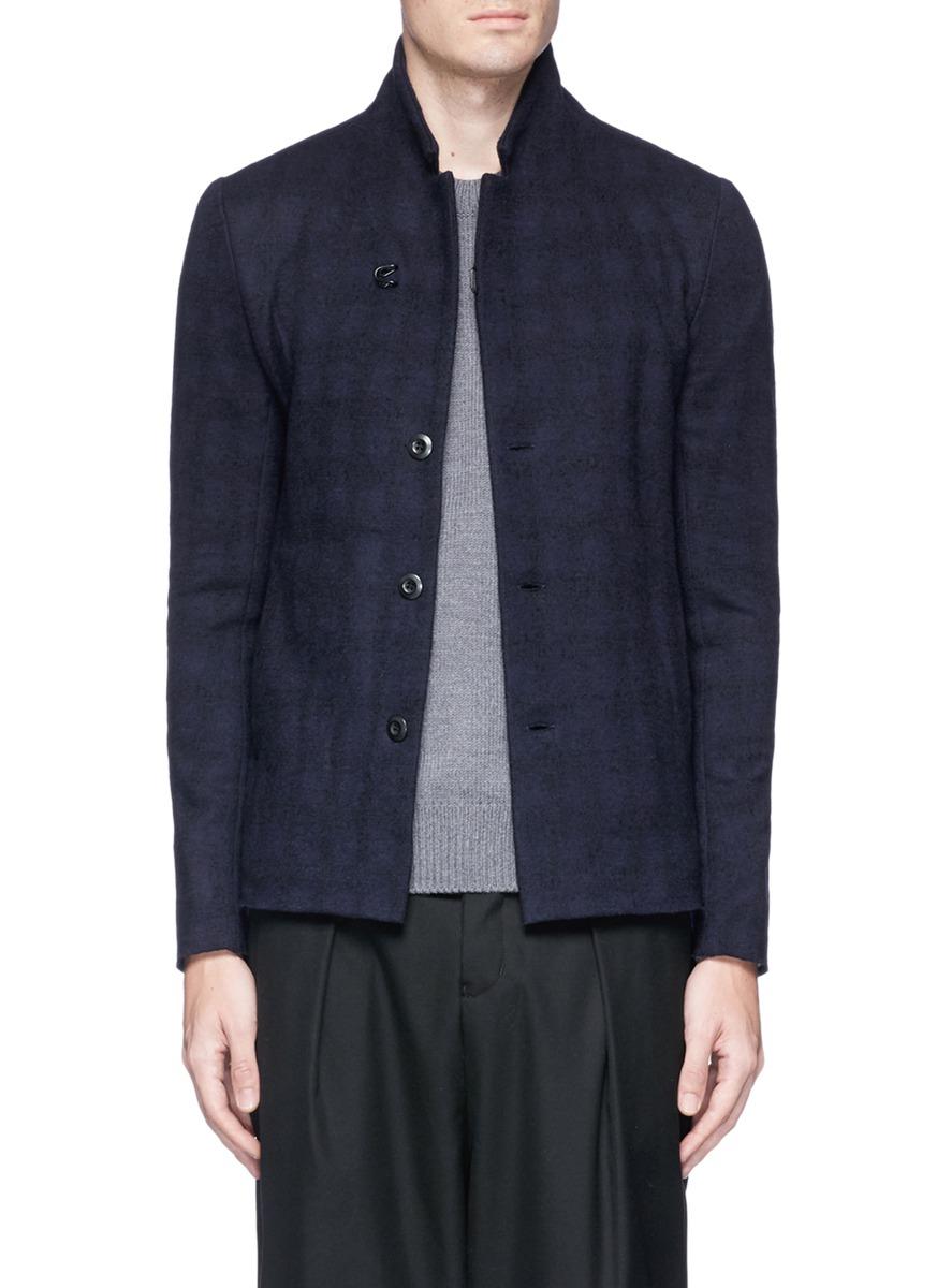 ATTACHMENT Convertible lapel felted wool knit blazer