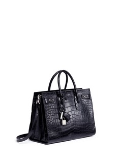 Saint Laurent 'Sac de Jour Souple' medium croc-embossed leather bag
