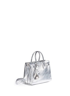 Saint Laurent 'Sac de Jour Souple' baby metallic leather bag