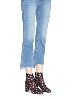 SAINT LAURENT 'Loulou 70' metallic leopard jacquard ankle boots