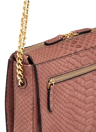 Detail View - Click To Enlarge - ZAGLIANI - 'Liberty' python crossbody bag